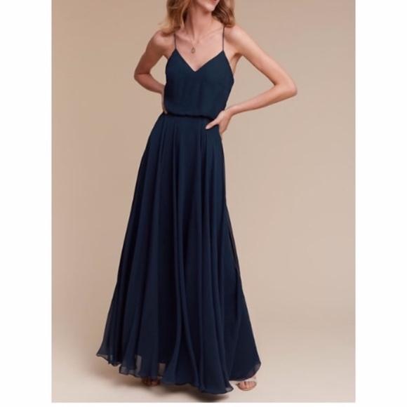 ca7ac50ca1777 BHLDN Dresses | Jenny Yoo Inesse Navy Blue Dress | Poshmark